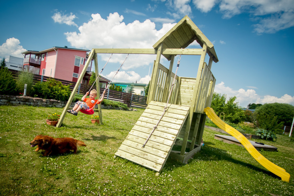 Wooden Climbing Frame with Slide \'Carol\' - timbercabins24.co.nz