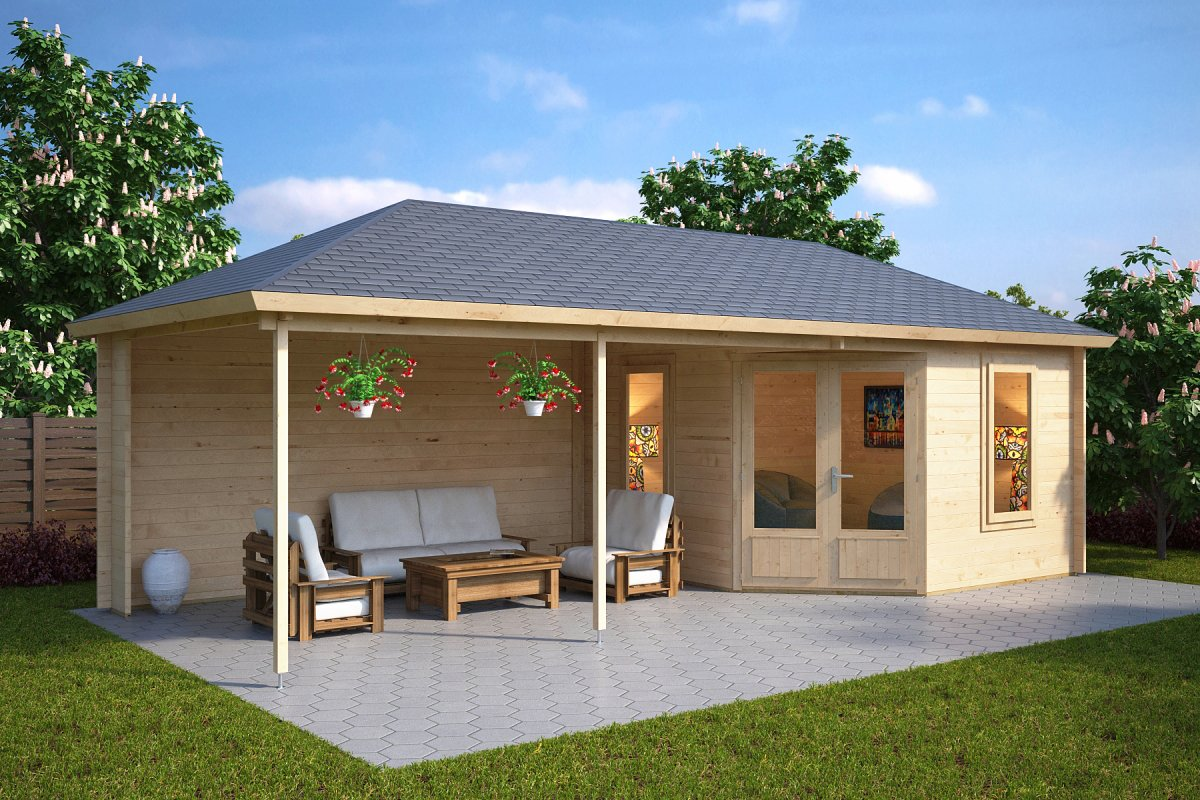 Garden Room Sophia With Veranda 10m 178 44mm 3 5 X 8 M