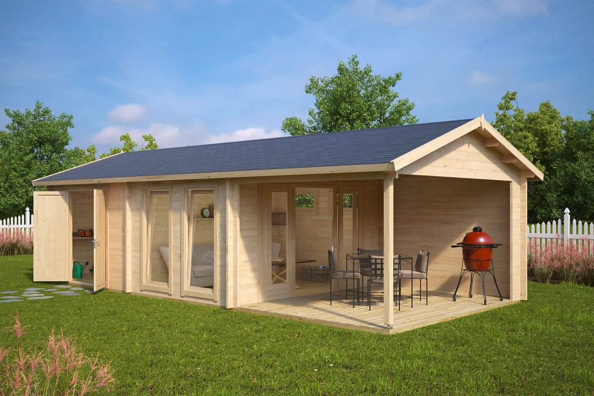Large garden room with shed robin 22m 50mm 9 x 4 m for Large garden room
